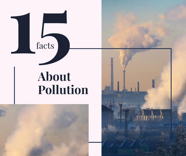 Smoke pollution from industrial chimney Facebook Tasarım Şablonu