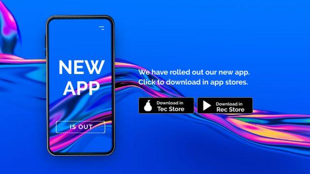 Ontwerpsjabloon van Title van App promotion on phone Screen