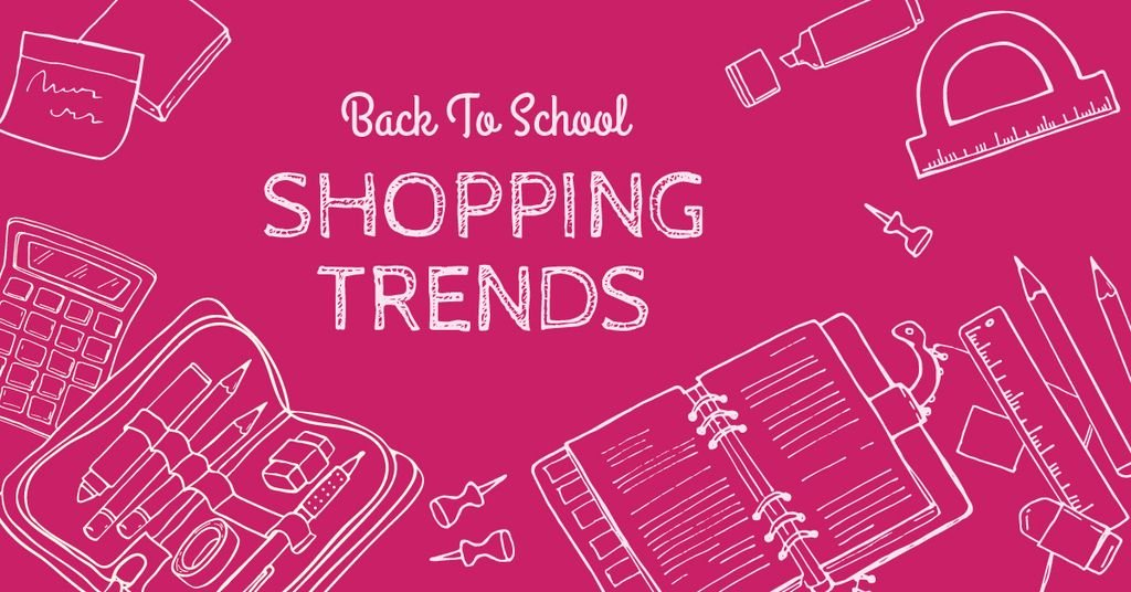 Shopping trends poster, back to school concept — ein Design erstellen