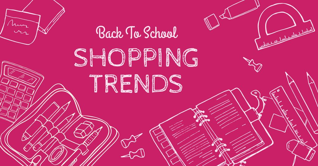 Shopping trends poster, back to school concept — Створити дизайн