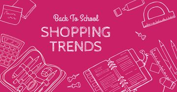 Shopping trends poster, back to school concept