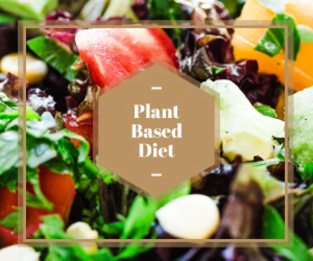 plant based diet background — Create a Design
