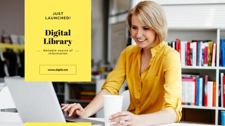 Ontwerpsjabloon van Presentation Wide van Digital library Offer