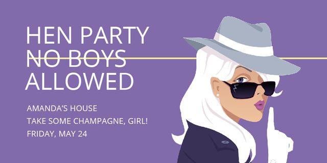 Hen party for girls in Amanda's House Twitter Tasarım Şablonu