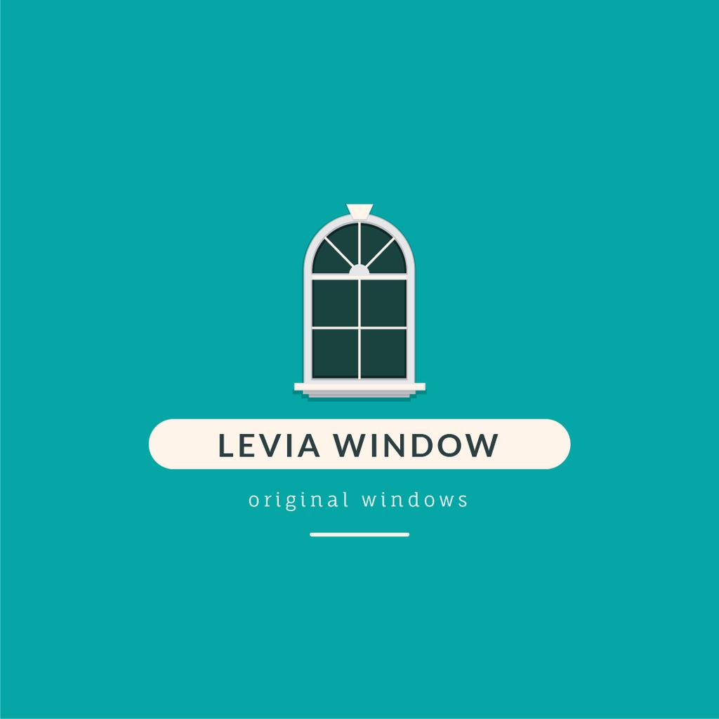 Window Installation Services Ad in Blue — Crear un diseño