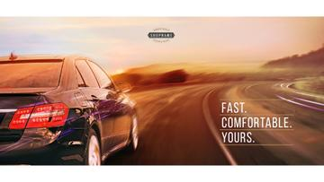 Advertisement banner for car store
