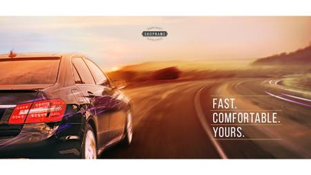 Ontwerpsjabloon van Presentation Wide van Advertisement for car store