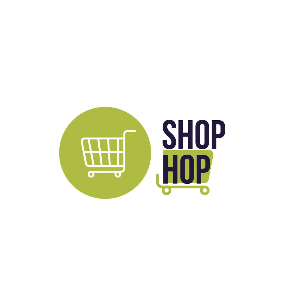 Shop Ad Shopping Cart in Green — Create a Design