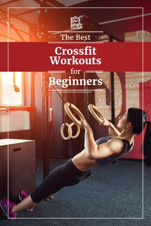 Plantilla de diseño de Сrossfit workout for beginners Pinterest