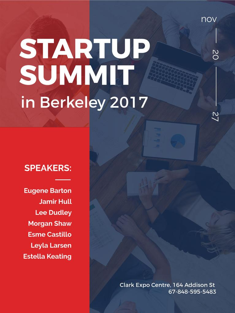 startup summit in Berkeley banner — Создать дизайн