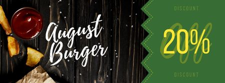 Burgers served with potato Facebook cover Modelo de Design