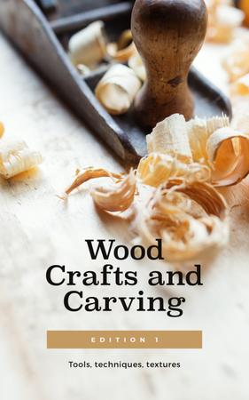Wood Craft Technique Book Cover Design Template