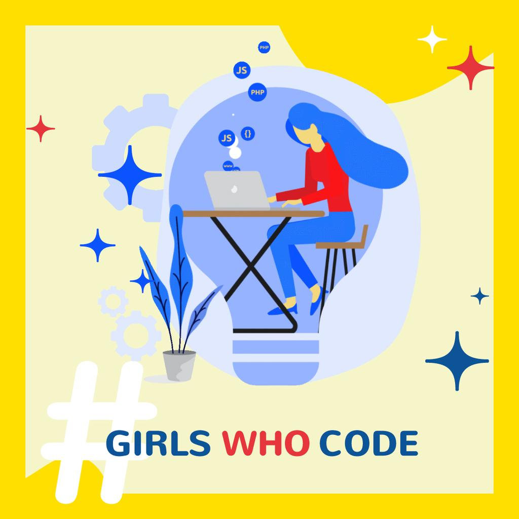 Equality Concept with Woman Coding on Laptop —デザインを作成する