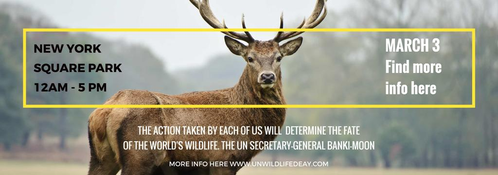 Eco Event announcement with Wild Deer Tumblr Design Template