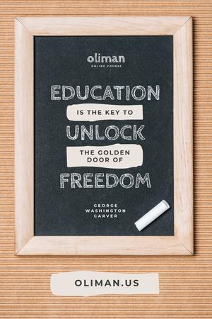 Plantilla de diseño de Education Quote on Chalkboard Pinterest