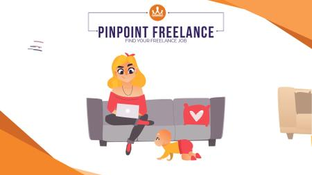 Freelancers working at home Full HD video Modelo de Design