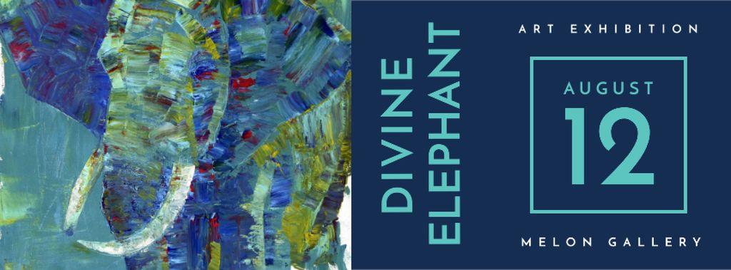 Modèle de visuel Elephant exhibition Announcement - Facebook cover