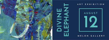 Plantilla de diseño de Elephant exhibition Announcement Facebook cover