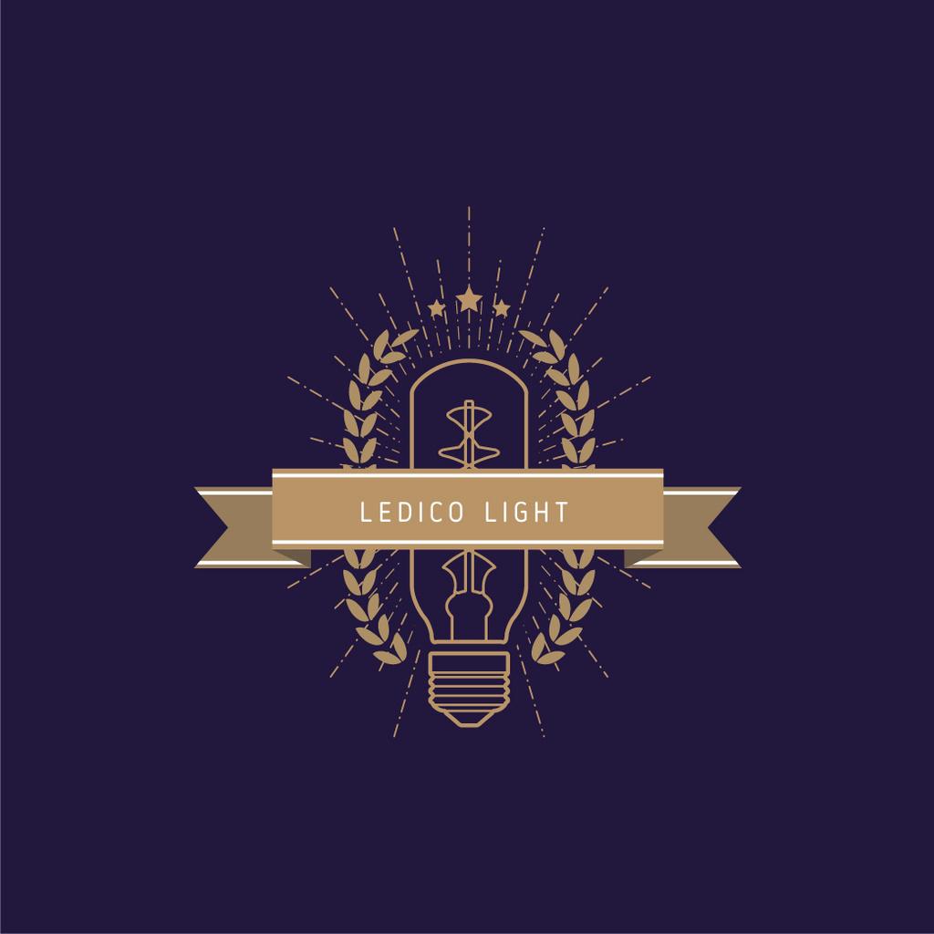 Light Bulb Icon in Brown — Crea un design