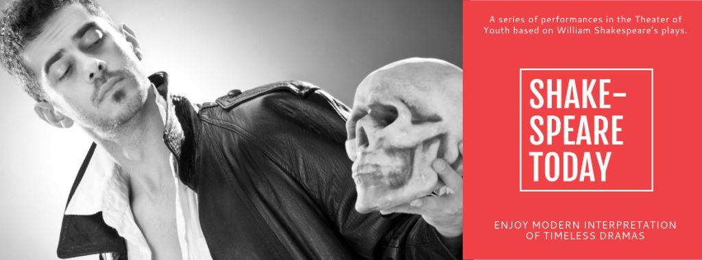 Theater Invitation with Actor in Shakespeare's Performance — Crear un diseño
