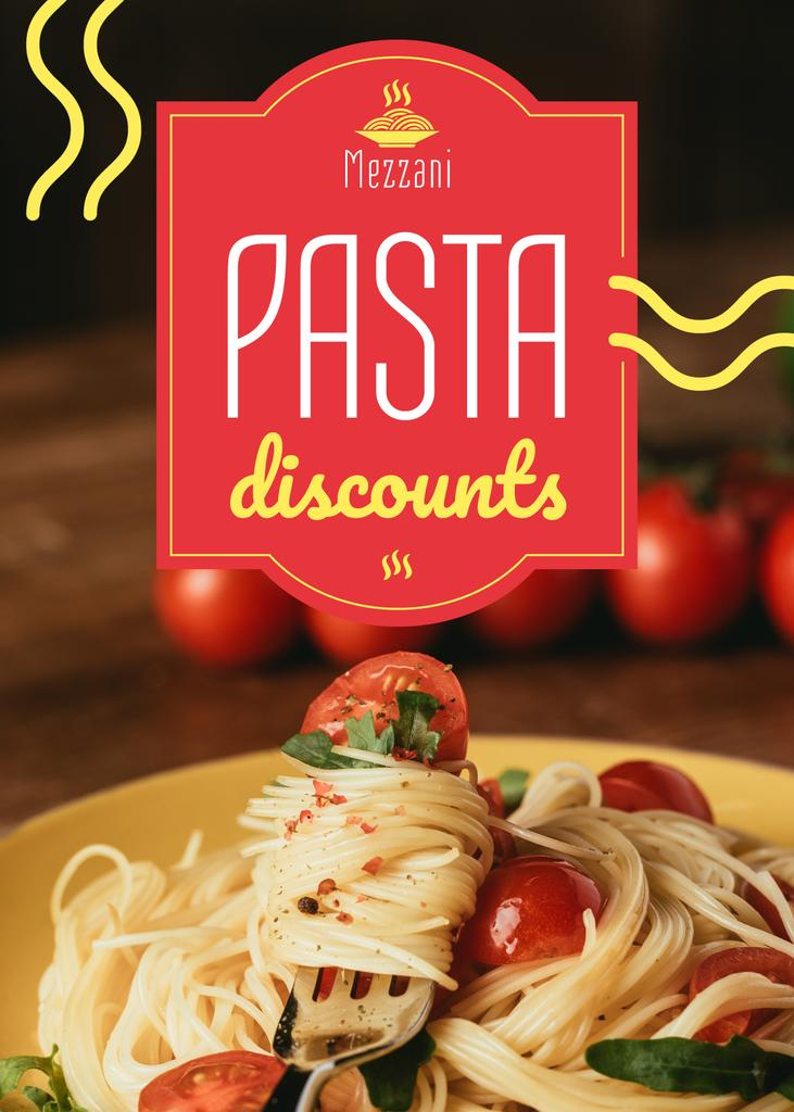 Pasta Menu Promotion Tasty Italian Dish — Maak een ontwerp