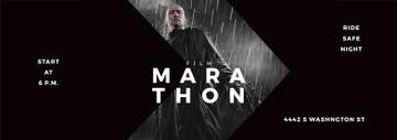 Film Marathon Ad Man with Gun under Rain | Tumblr Banner Template