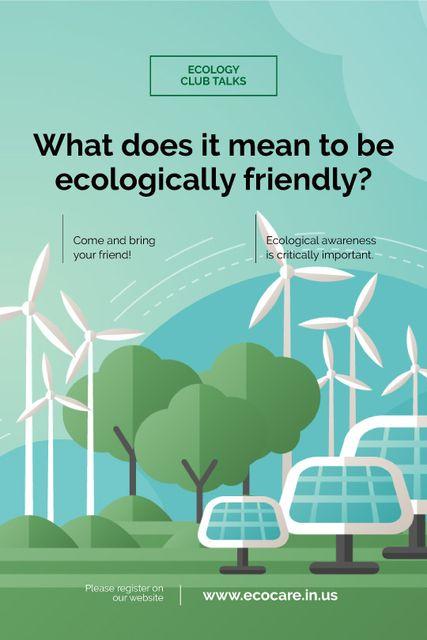 Renewable Energy Wind Turbines and Solar Panels Tumblr Modelo de Design