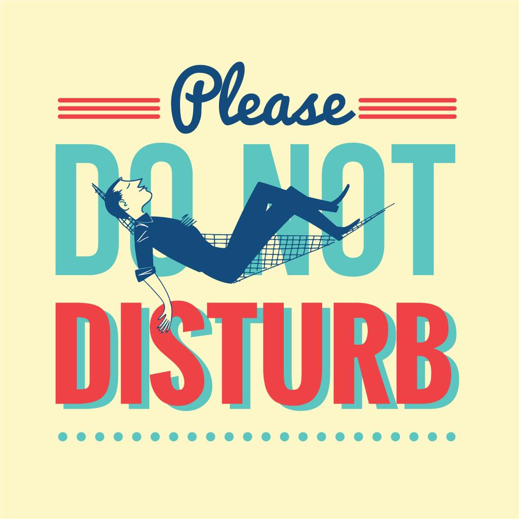 Please do not disturb poster — Create a Design