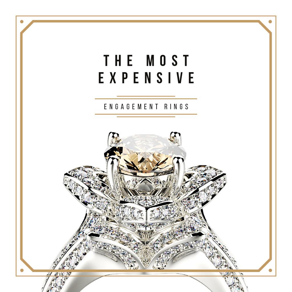 Precious ring with gem stone — Modelo de projeto