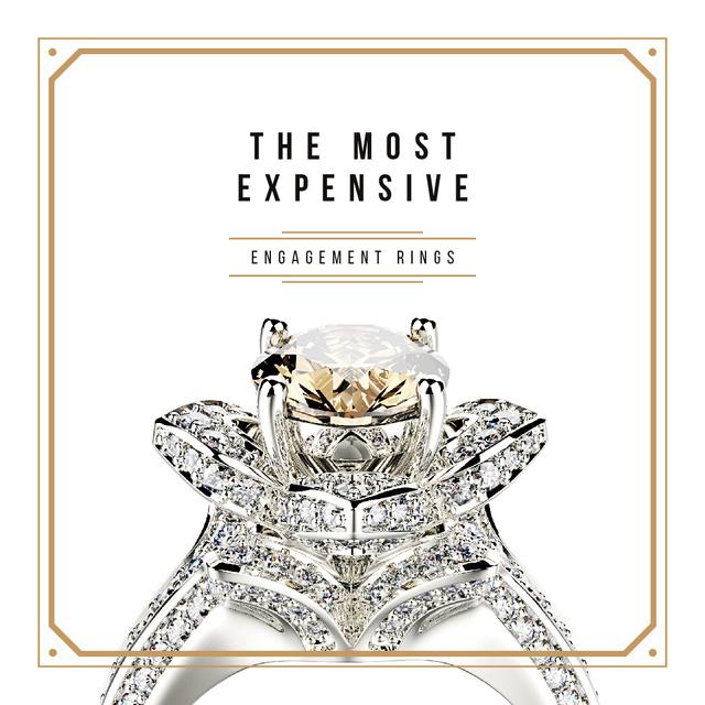 Precious ring with gem stone Instagramデザインテンプレート