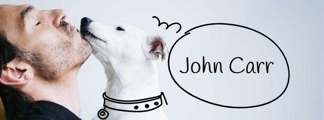 Owner Kissing Dog Facebook cover Modelo de Design