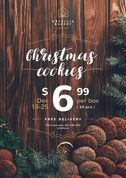 Christmas Offer Sweet Cookies | Poster Template