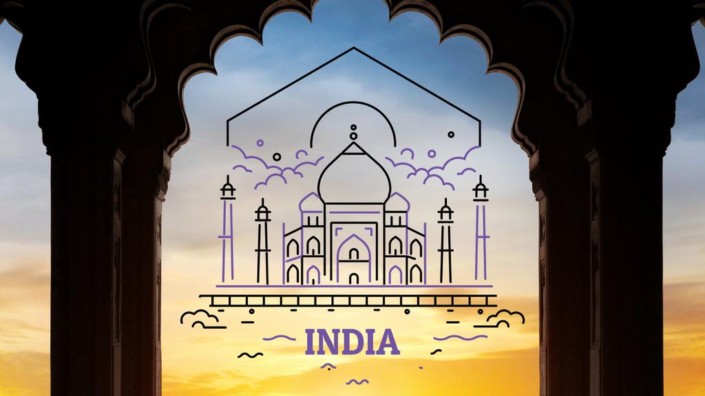Tour Invitation with Taj Mahal Attraction | Full Hd Video Template — Crea un design