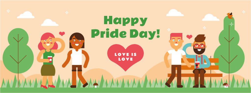 LGBT romantic couples on Pride Day — Crea un design