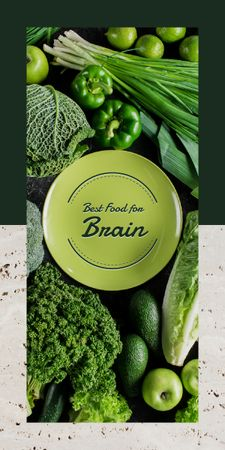 Green healthy food Graphic Modelo de Design