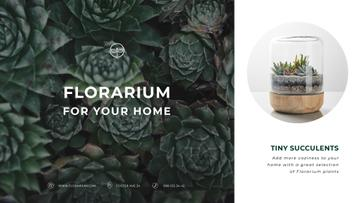 Floral Shop Ad Succulent Plants in Green