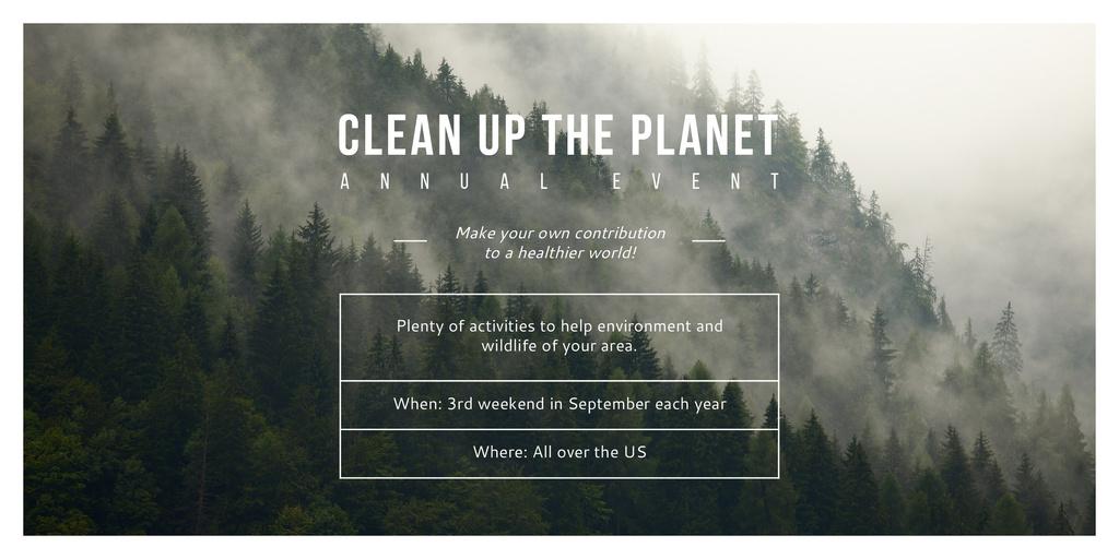 Clean up the Planet Annual event — Crea un design