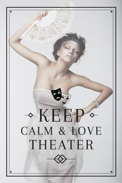 Theater Quote Woman Performing in White | Pinterest Template