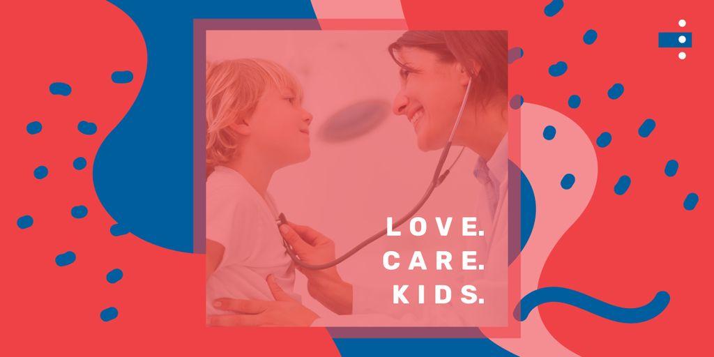 Pediatrician examining child — Создать дизайн