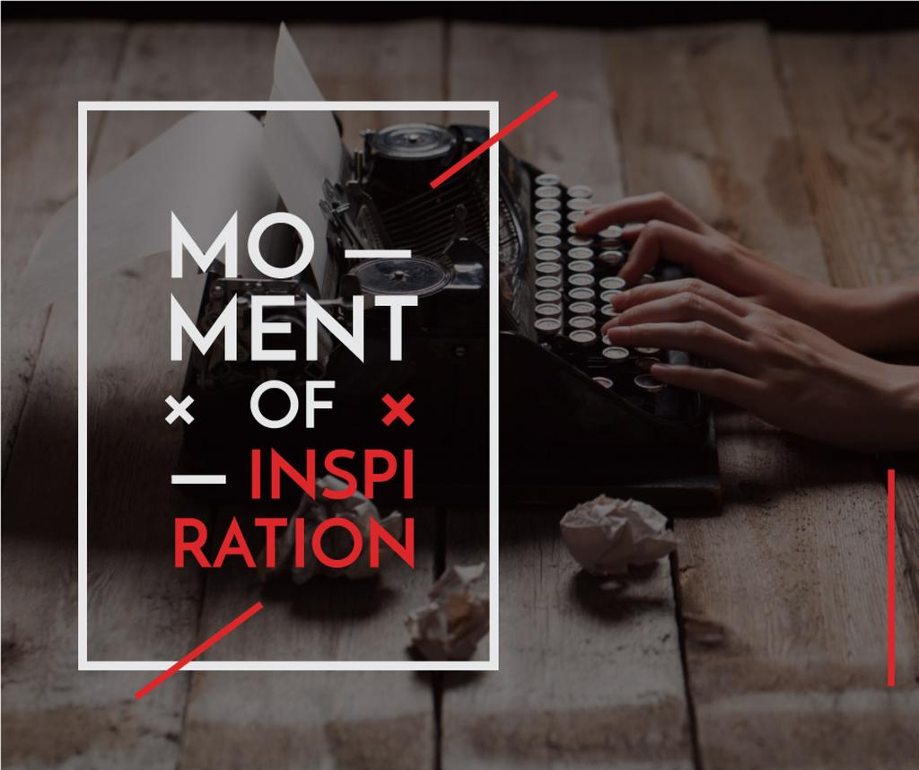 Inspiration Concept with Vintage Typewriter at workplace — Crear un diseño