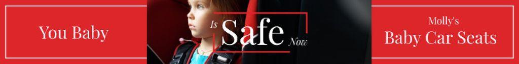 Child in Car Seat in Red   Leaderboard Template — Crea un design
