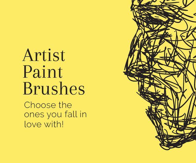 Designvorlage Artist Paint Brushes für Large Rectangle