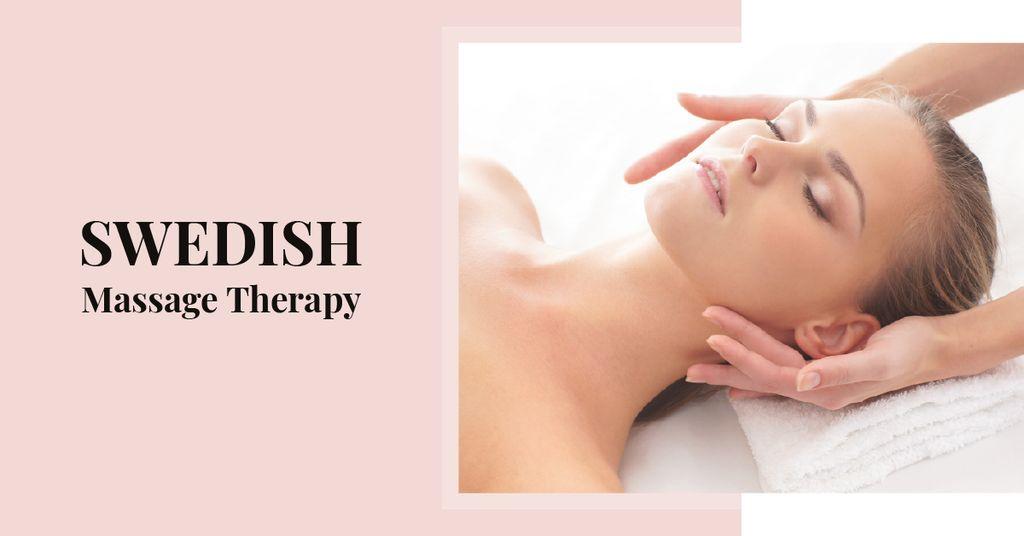 Woman at Swedish Massage Therapy — Crear un diseño