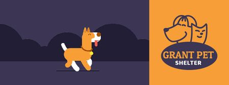 Plantilla de diseño de Pet Shelter ad Dog peeing on street Facebook Video cover