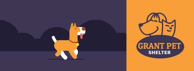 Pet Shelter ad Dog peeing on street Facebook Video cover Modelo de Design