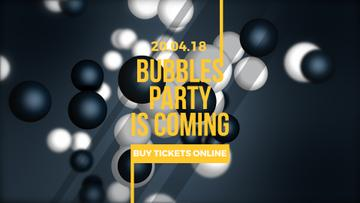 Glowing bubbles on dark background
