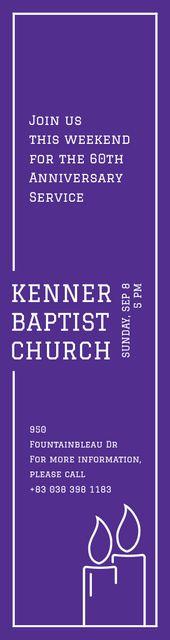 Ontwerpsjabloon van Skyscraper van Kenner Baptist Church