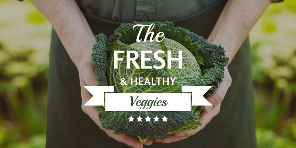 Fresh veggies poster with farmer — Create a Design
