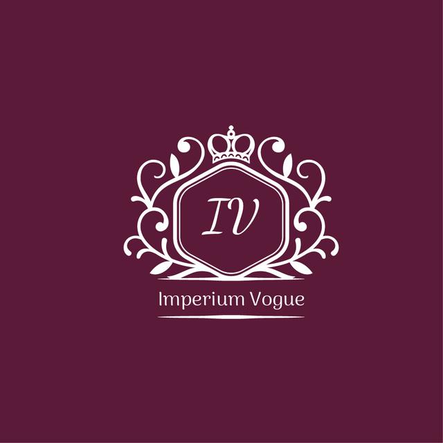 Template di design Vintage Decorative Logo in Purple Logo