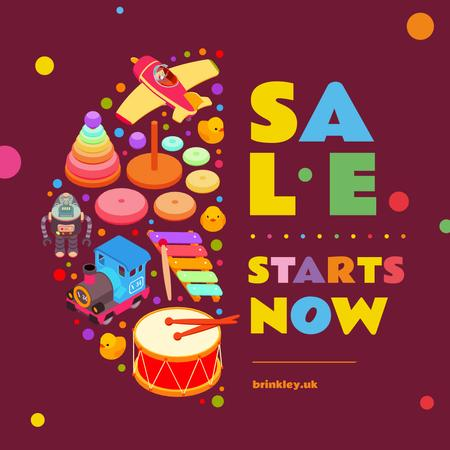 Plantilla de diseño de Sale of Various kids toys Instagram